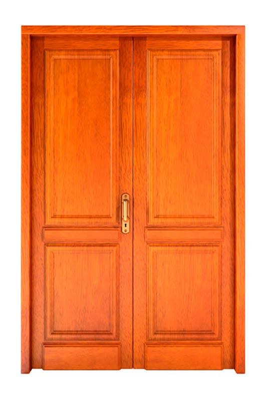Puertas de exterior de madera for Puertas antiguas de madera de 2 hojas