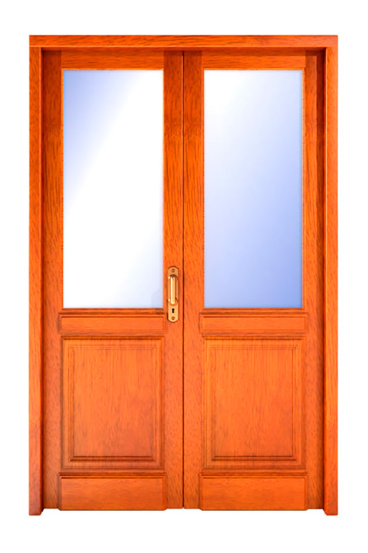 Puertas de exterior de madera for Puertas dobles de madera exterior